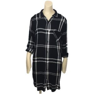 "Rails Plaid flannel shirt dress ""Bianca"" sz small"